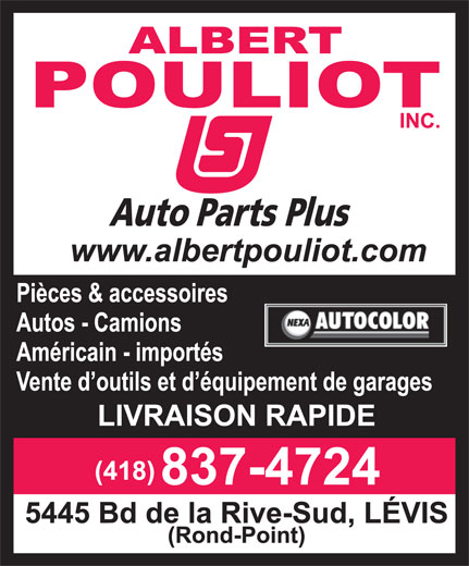 Ads Pouliot Albert Inc/Auto Parts Plus
