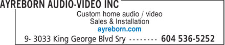 Ads Ayreborn Audio/Video Inc