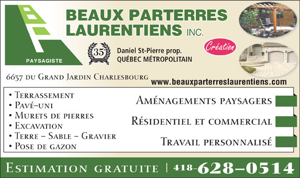 Ads Beaux Parterres Laurentiens Inc