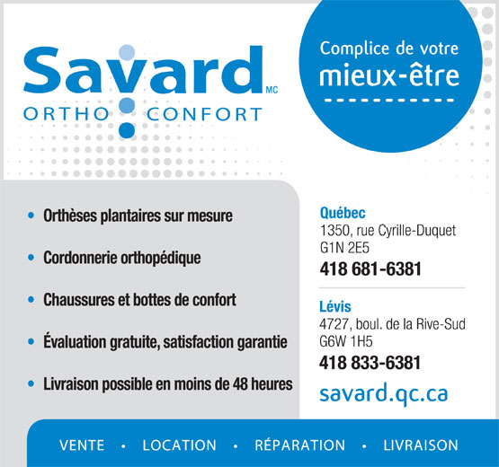 Ads Savard Ortho Confort Inc