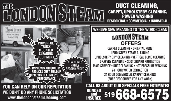 Ads The London Steam Carpet Cleaning