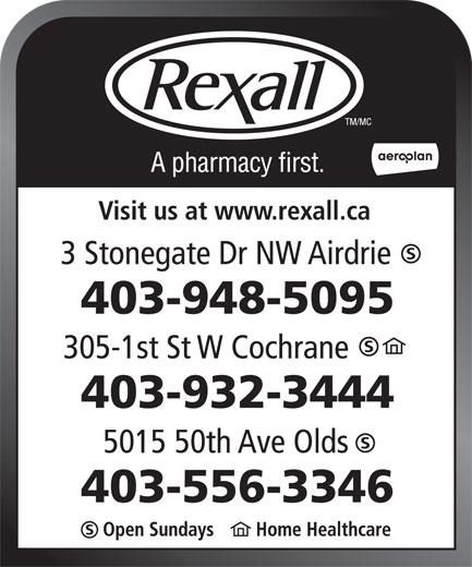 Ads Rexall Drug Stores
