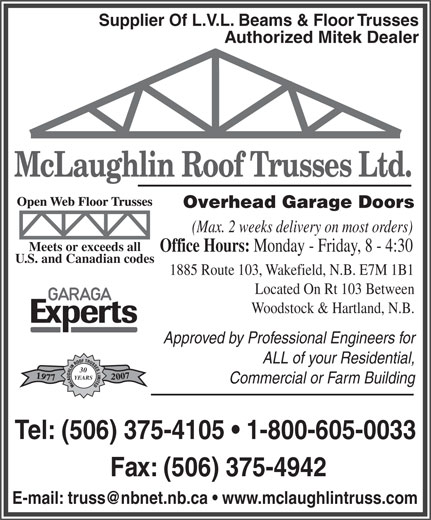 Ads McLaughlin Roof Trusses Ltd
