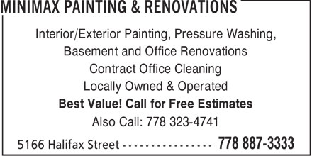 Ads Minimax Painting & Renovations