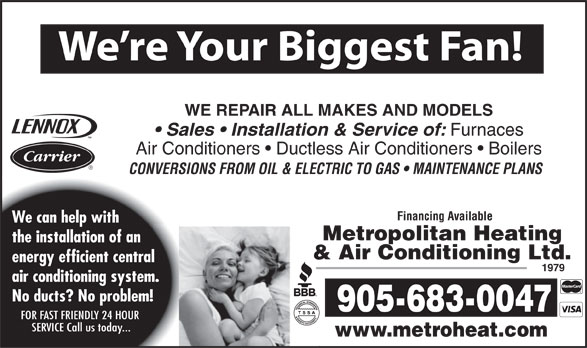 Ads Metropolitan Heating &amp; Air Conditioning