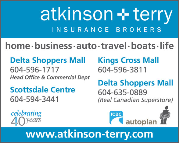 Ads Atkinson & Terry Insurance Brokers