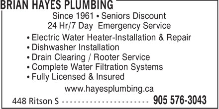 Ads Brian Hayes Plumbing