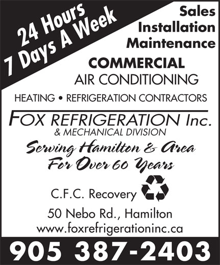 Ads Fox Refrigeration Inc