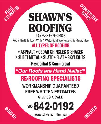 Ads Shawn's Roofing