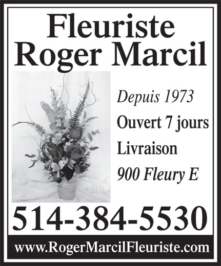 Ads Fleuriste Roger Marcil