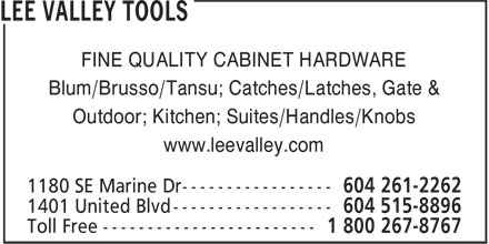 Ads Lee Valley Tools
