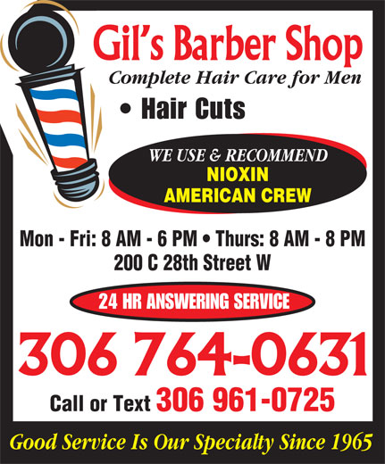 Ads Gil&#039;s Barber Shop &amp; Salon