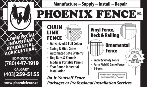 Ads Phoenix Fence Inc
