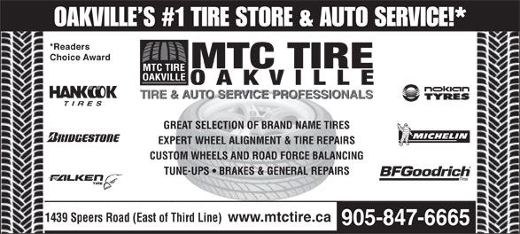 Ads MTC Tire Oakville