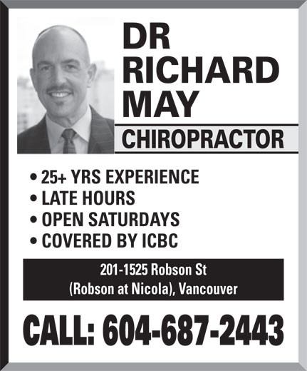 Ads May, Dr Richard Chiropractor