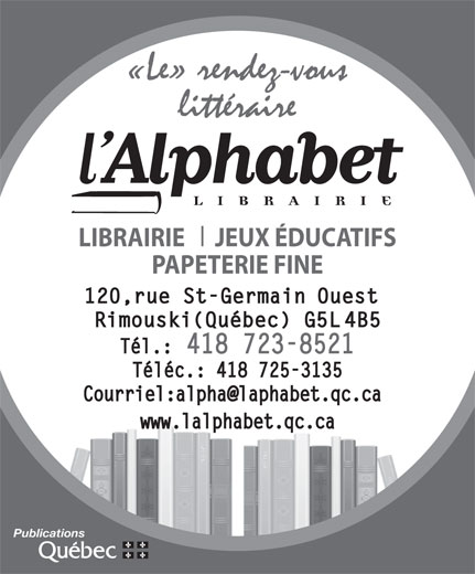 Ads Librairie L&#039;Alphabet Inc - Tlcopieur