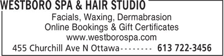 Ads Westboro Spa & Hair Studio