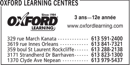 Ads Oxford Learning Centres
