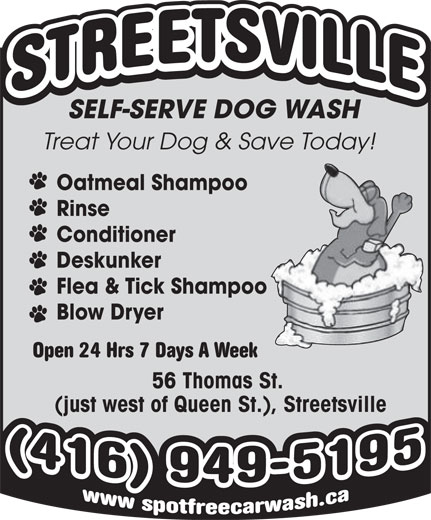Ads Streetsville Self-Serve Dog Wash