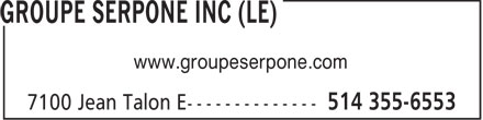Ads Groupe Serpone Inc (Le)