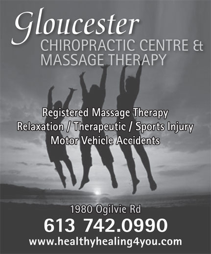 Ads Gloucester Centre Chiropractic & MassageTherapy