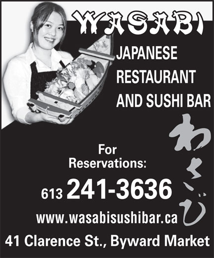 Ads Wasabi Japanese Restaurant &amp; Sushi Bar