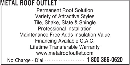 Ads Metal Roof Outlet Inc