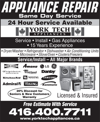Ads York Tech Appliances
