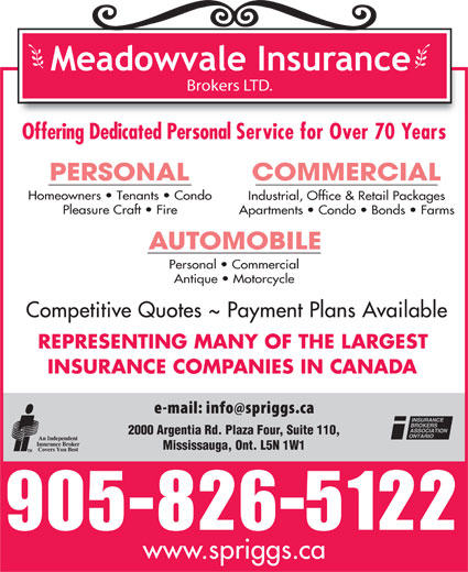 Ads Meadowvale Insurance Brokers Ltd