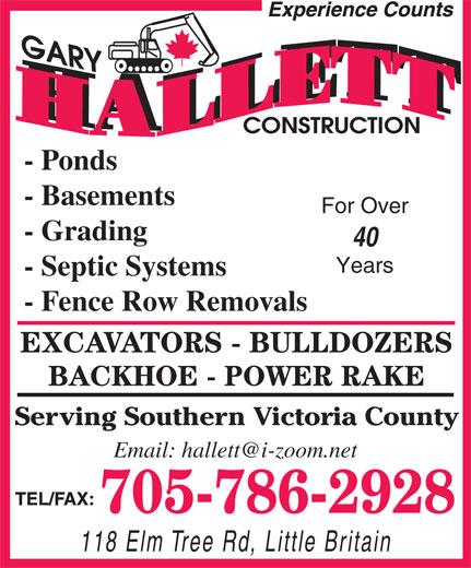 Ads Gary Hallett Construction