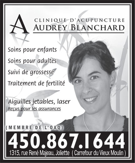 Ads Clinique D&#039;Acupuncture Audrey Blanchard