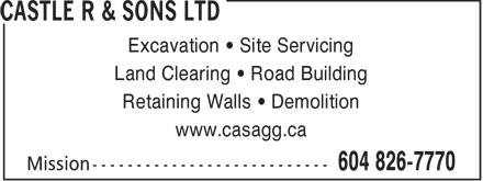 Ads Castle R & Sons Ltd