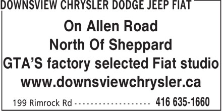 Ads Downsview Chrysler Dodge Jeep Ltd