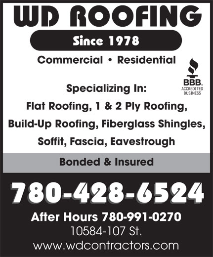 Ads W D Roofing