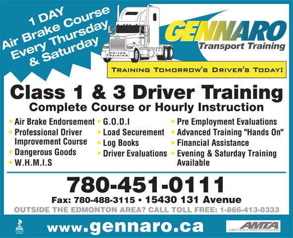 Ads Gennaro Transport Training