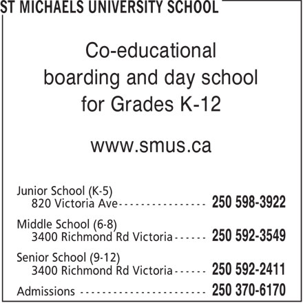 Ads St Michaels University School