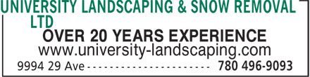 Ads University Landscaping & Snow Removal Ltd