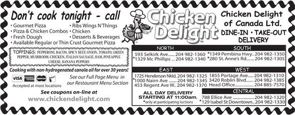Ads Chicken Delight Of Canada Ltd