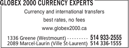 Ads Globex 2000 - Currency Experts
