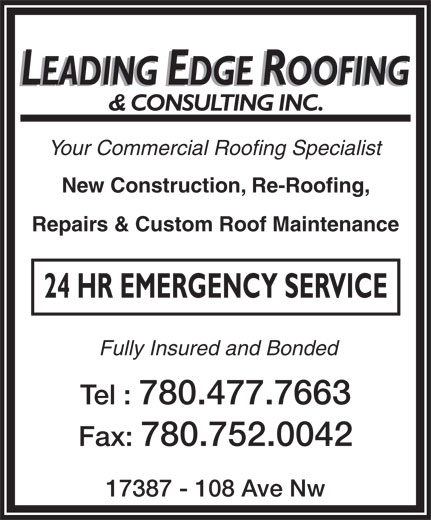 Ads Leading Edge Roofing & Consulting Inc