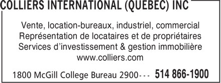 Ads Colliers International (Québec) Inc