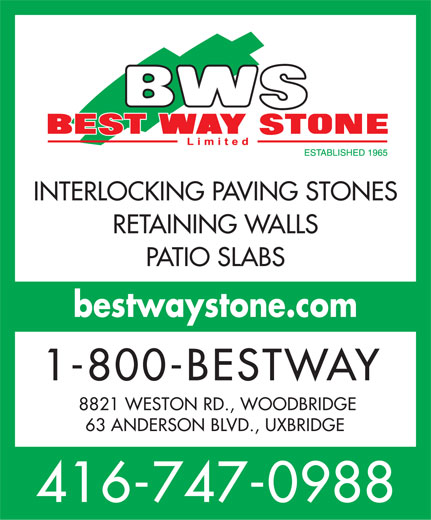 Ads Best Way Stone Limited - Pavers, Walls & Patio Stones