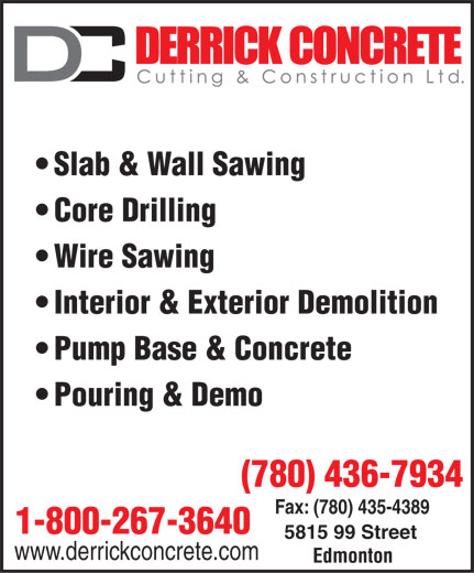 Ads Derrick Concrete Cutting &amp; Construction Ltd