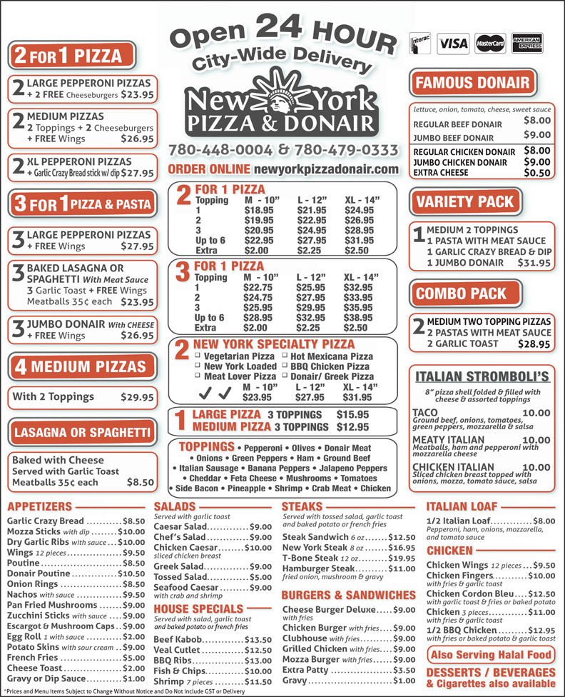 Ads New York Pizza & Donair