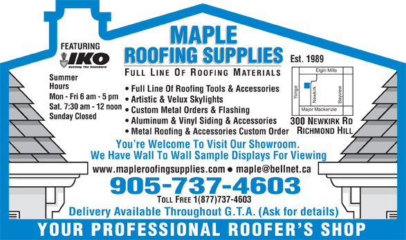 Maple Roofing Supplies Inc Richmond Hill On 300