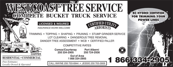 Ads West Coast Tree Service