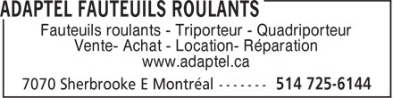 Ads Adaptel Fauteuils Roulants