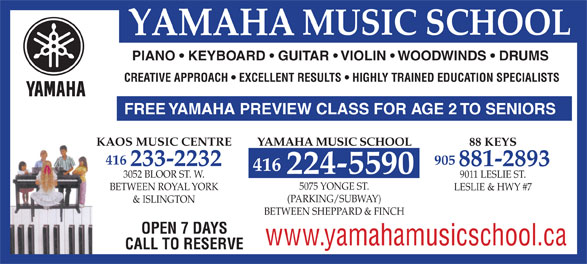 Ads Yamaha Music School