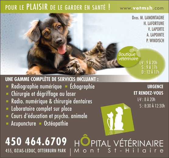 Ads Hopital Vtrinaire Mont St-Hilaire
