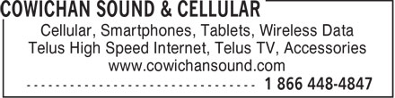 Ads Cowichan Sound & Cellular